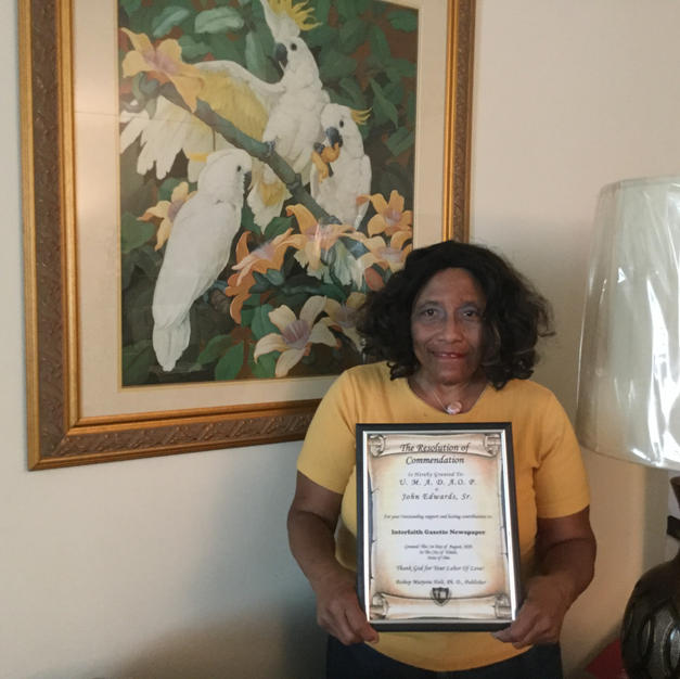 Doris Greer, Board Member for U.M.A.D.A.O.P. of Lucas County