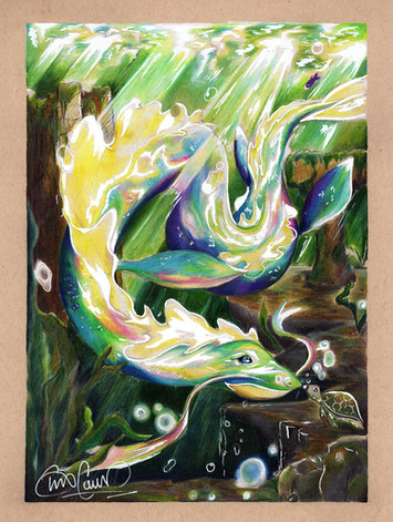 Rainbow Water Dragon