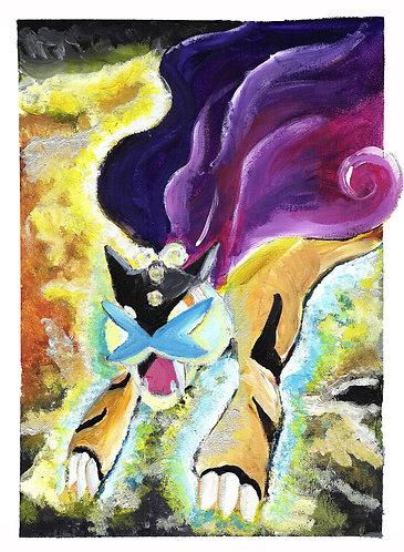 'Raikou's Wrath' -The ORIGINAL Canvas Painting