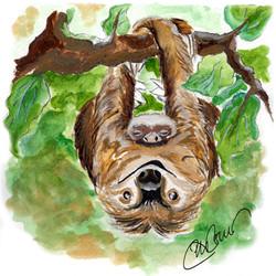 A simple sloth & her sleepy slothy baby