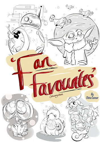 'Fan Favourites' - Colouring Book (Digital Download)