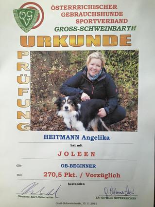 Obedience Prüfung, Gross Schweinbarth