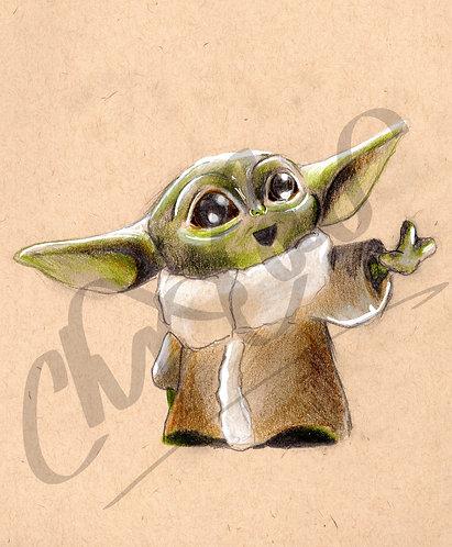 The Child / Baby Yoda - Art Print