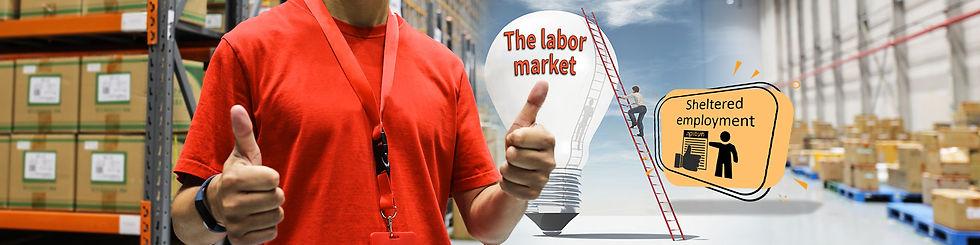 Sheltered employment banner