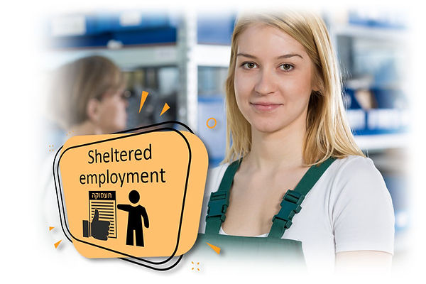 Worker in occupational rehabilitation sheltered employment