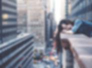 뉴욕시에서 소녀