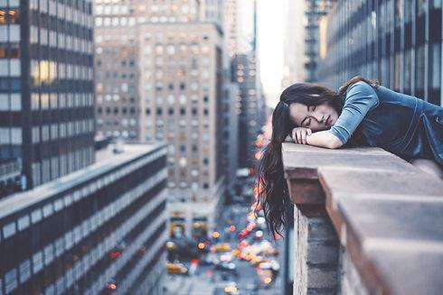 Flicka i New York City