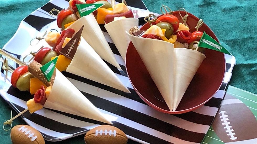 Super Bowl Charcuterie  Cones