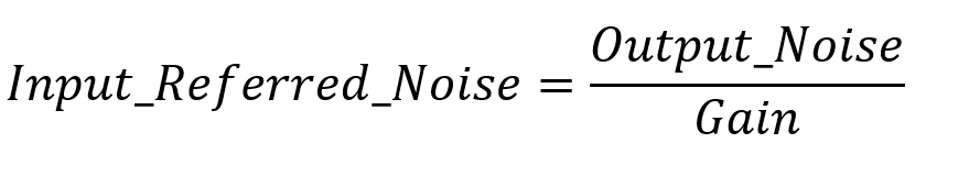 Input Referred Noise