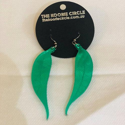 copy of Manna Gum Leaf Earring - Mirror (Green)
