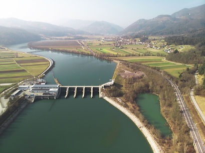 Slovenian Hydroelectric Dam
