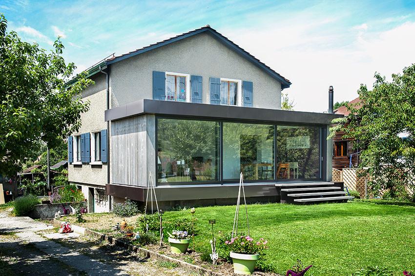 extension d'une maison, Genève Châtelaine