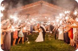 Wedding Exit Bride & Groom Sparklers