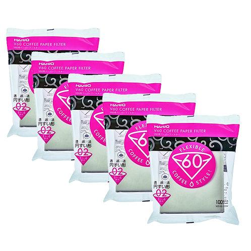 Hario V60 Paper Filter White 02 - 500 PCS Wholesale