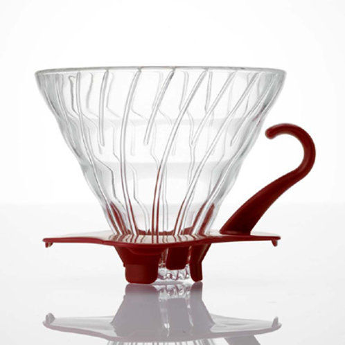 Hario V60 Red Glass Dripper - Size 02