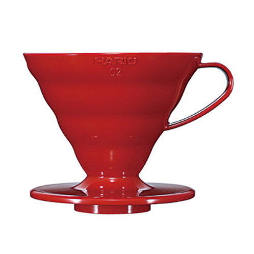 Hario V60 Red PLASTIC Dripper - Size 02
