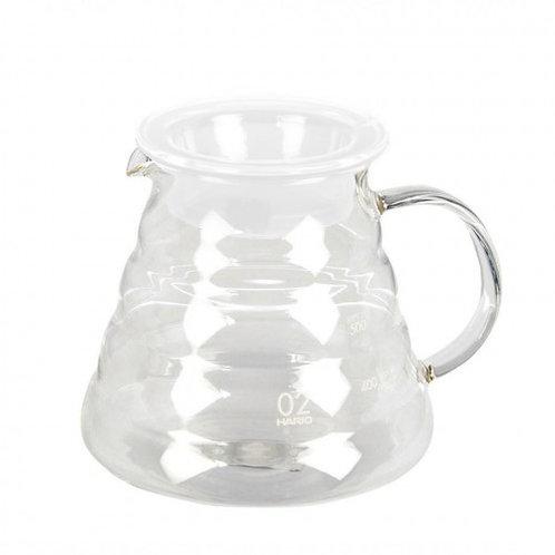 Hario V60 Matte White Glass Range Pour Over Coffee Server - Size 02 600mL