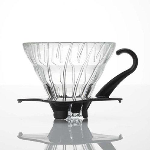 Hario V60 Black Glass Dripper - Size 01