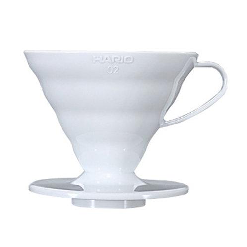 Hario V60 White PLASTIC Dripper - Size 02