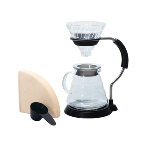 Hario V60 Arm Stand Glass Dripper Set 02