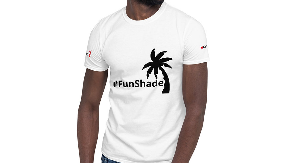 Short-Sleeve Unisex T-Shirt - KenYUCK #FunShade with palmtree