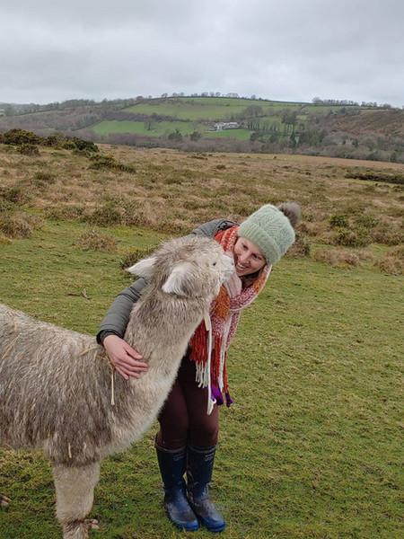 Penfold kisses on a winter trek