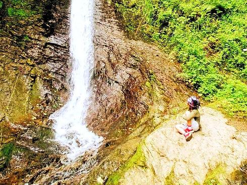 Whitelady Waterfall at Lydford Gorge, National Trust