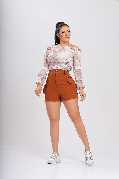 Conjunto Shorts e Blusa Ciganinha