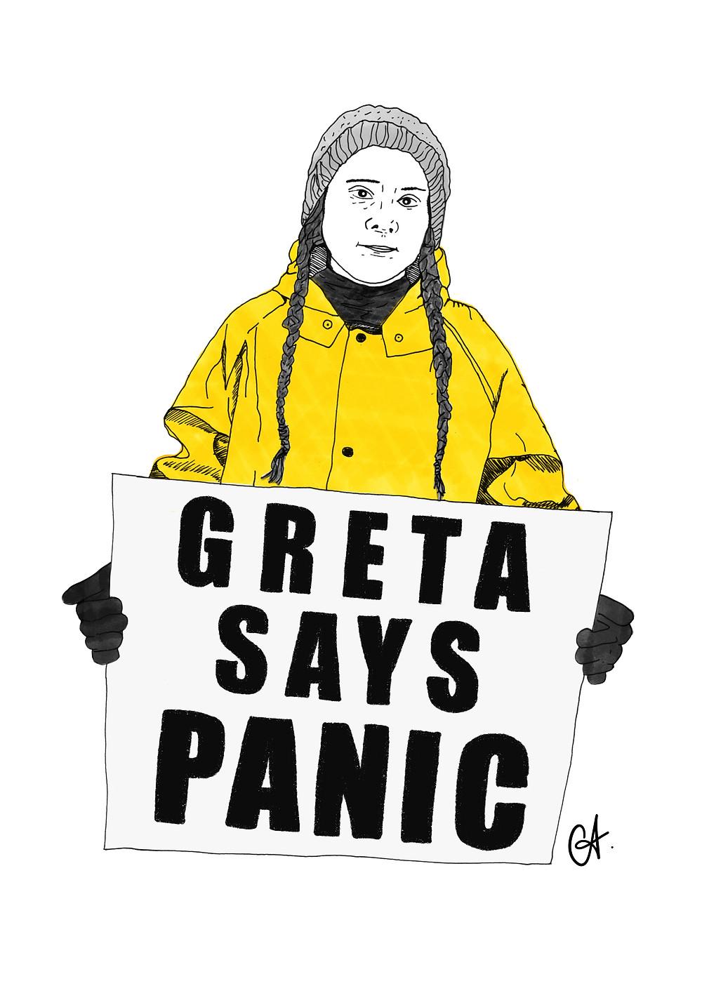 'Greta Says Panic'