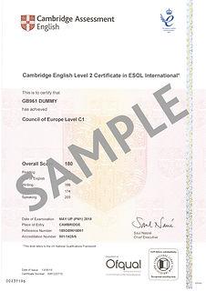 SAMPLE CEFR C1 - Proficiency - 180 - C1.