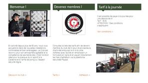 Page d'accueil site Internet club de tir