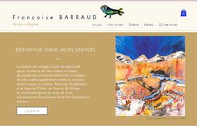 Page d'accueil site artiste peintre