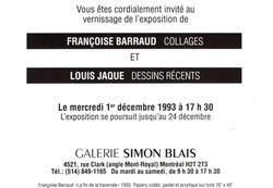 1993 Galerie Simon Blais