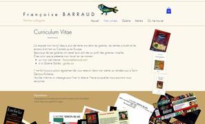 Page CV artiste