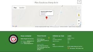 Plan d'accès site Internet club de tir