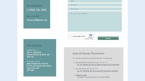Page Contact Site Internet club de tir
