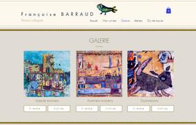 Page galerie site artiste peintre