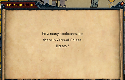 Bookcases in Varrock Palace library.