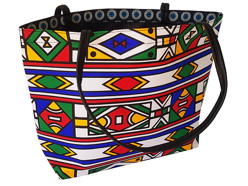 Ndebele 02 Square Tote, no zip