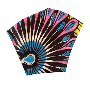 90's inspired 100% cotton African wax print face mask