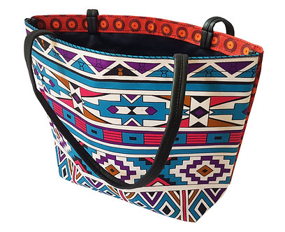Ndebele 01 Square Tote, no zip
