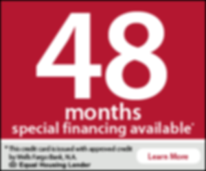 48 months special financing by Wells Fargo