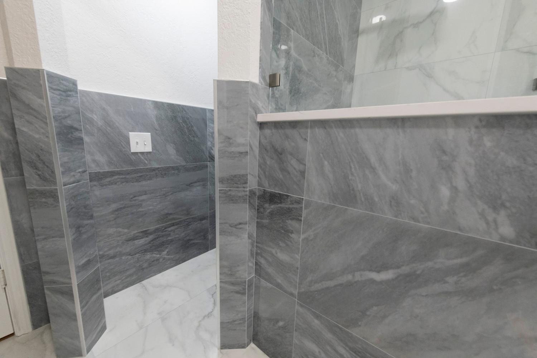 Grey Wall Tile Bathroom
