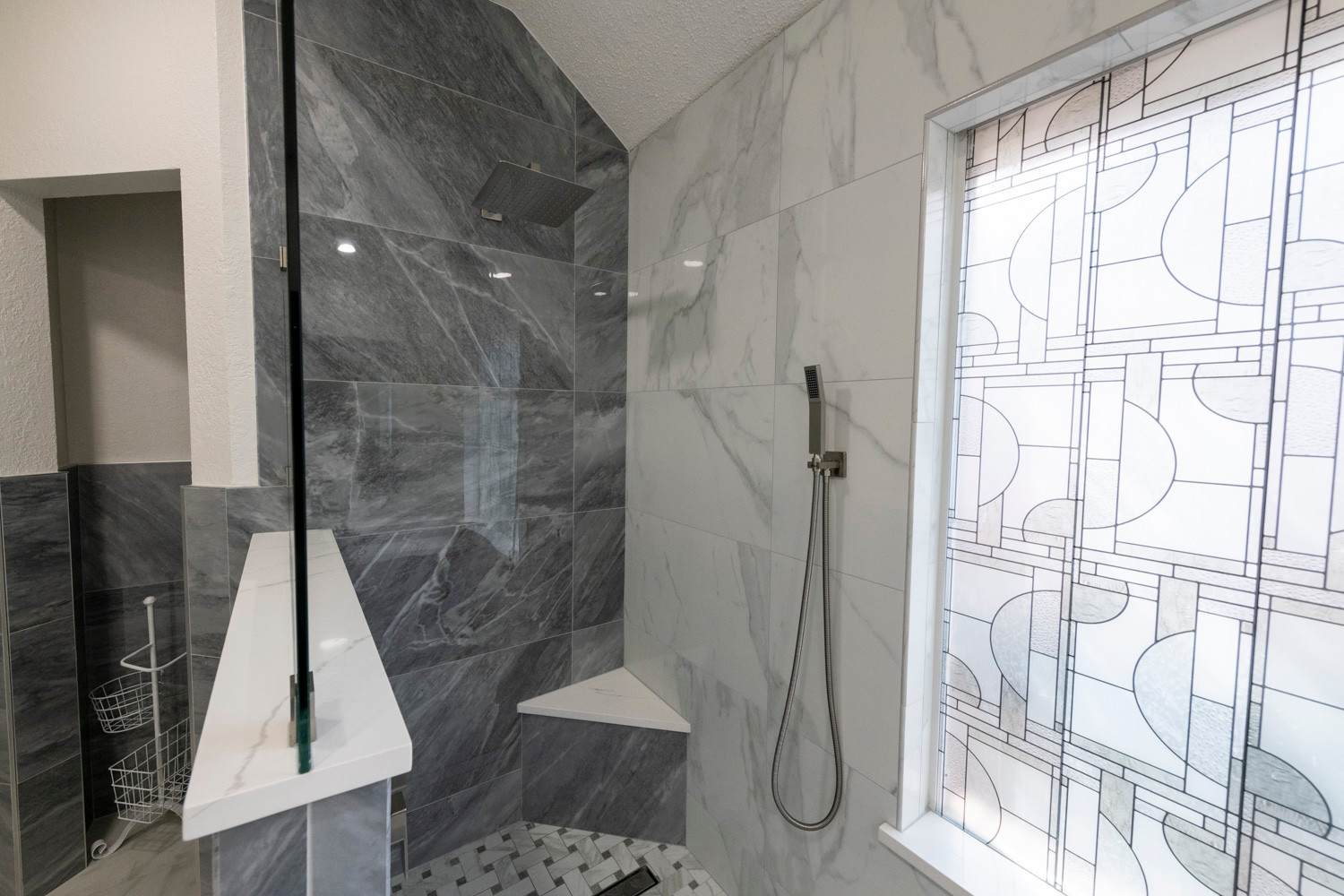Two Tone Shower Tile