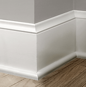 White Baseboard with Quarter Round