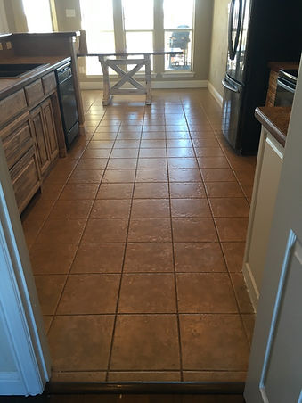 Old kitchen tile replaced