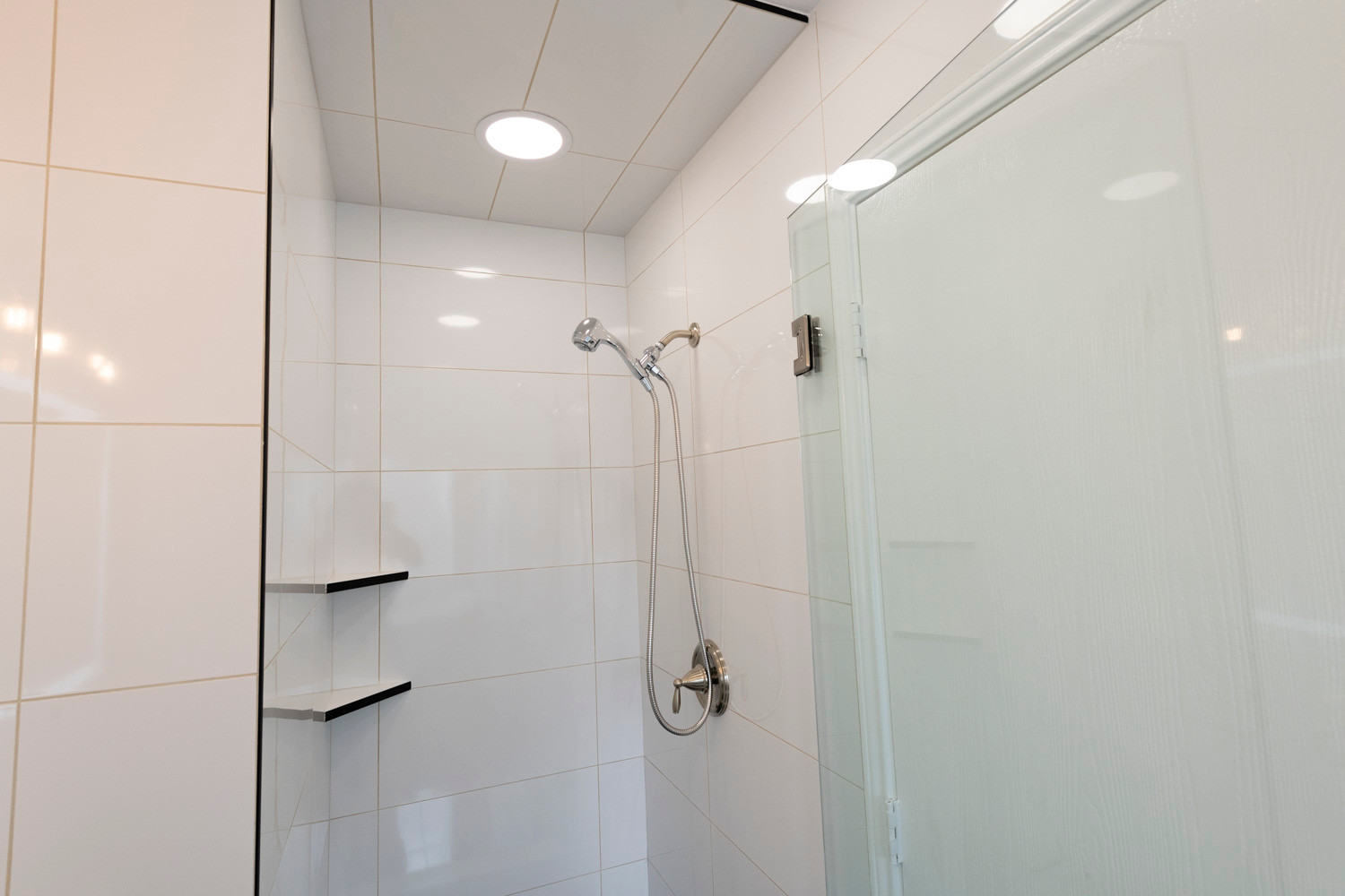 White Shower Tile