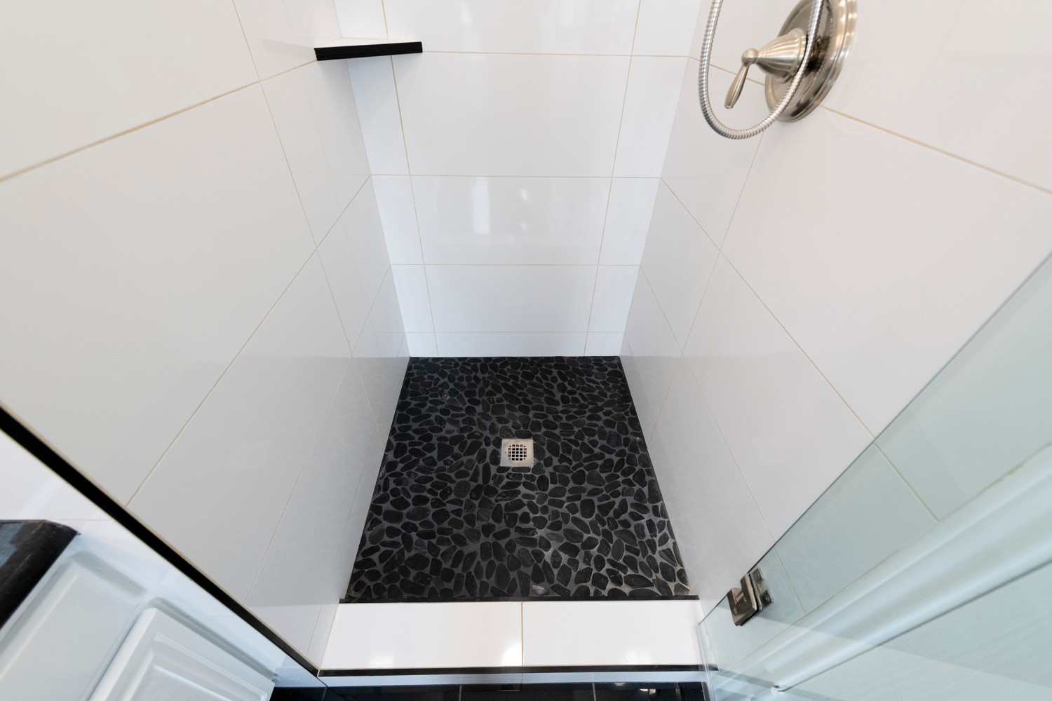 Black Shower Floor