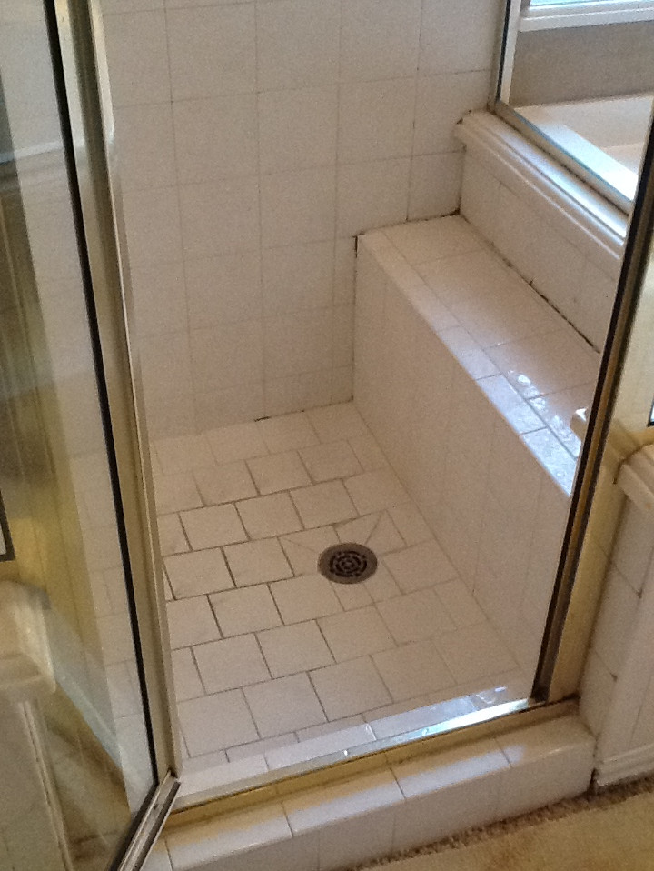 Before Shower Tile Cleaning