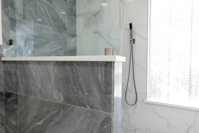 Grey Shower Frameless glass